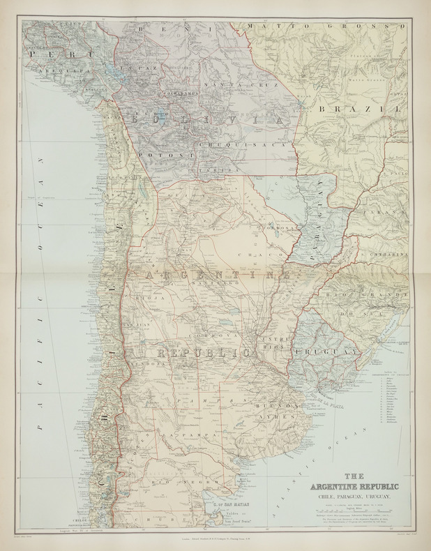 [ARGENTINE] The Argentine Republic. Chile, Paraguay, Uruguay.. STANFORD (Edward).