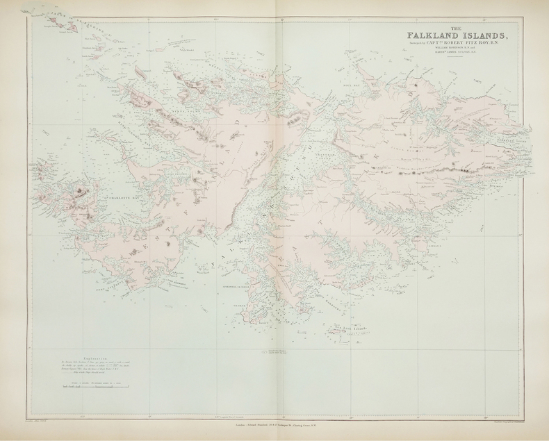 [FALKLAND/MALOUINES] The Falkland Islands.. STANFORD (Edward).