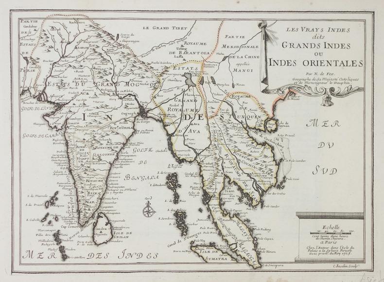 Les vrays Indes dits Grands Indes ou Indes Orientales.. FER (Nicolas de).