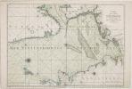 [NORVEGE & DANEMARK] Carte de la mer d'Allemagne contenant les bancs isles et costes comprises depuis Bergen et les isles Schetland jusques au Pas de ...
