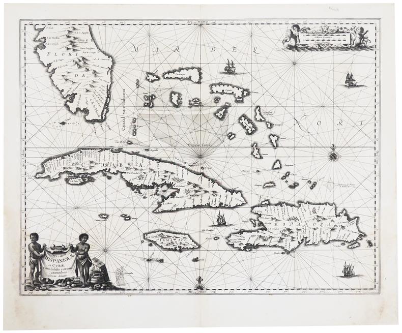 [CUBA/SAINT-DOMINGUE/FLORIDE] Insularum Hispaniolæ et Cubæ cum insulis circum jacentibus accurata delineatio.. JANSSON (Johannes).