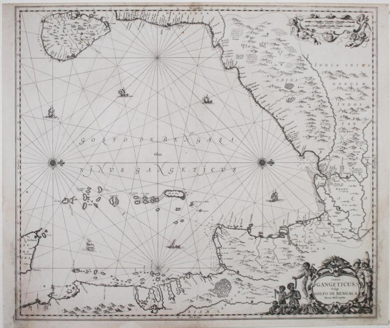 Sinus Gangeticus vulgo Golfo de Bengala nova descriptio.. JANSSON (Johannes).