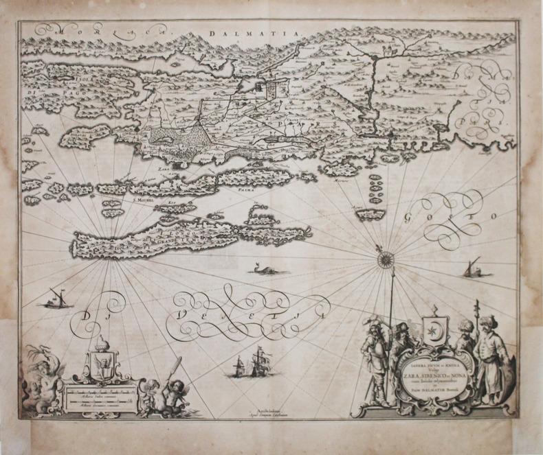 [CROATIE] Iadera, Sicum et Ænona vulgo Zara, Sibenico et Nona cum insulis adjacentibus in parte Dalmatiæ boreali.. JANSSON (Johannes).