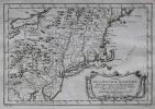 Carte de la Nouvelle Angleterre, Nouvelle Yorck et Pensilvanie.. BELLIN (Jacques-Nicolas).