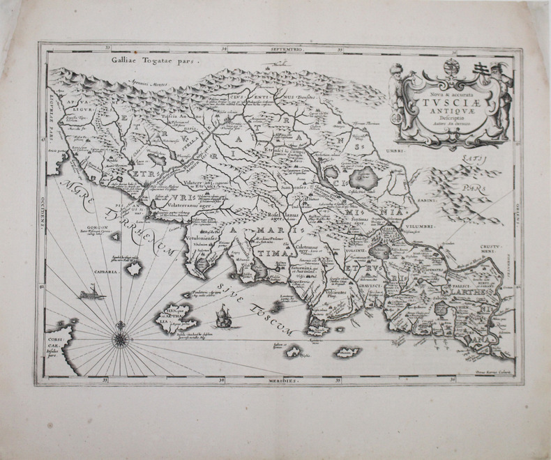 [TOSCANE] Nova & accurata Tusciæ antiquæ descriptio. Autore Ab. Ortelio.. JANSSON (Johannes).