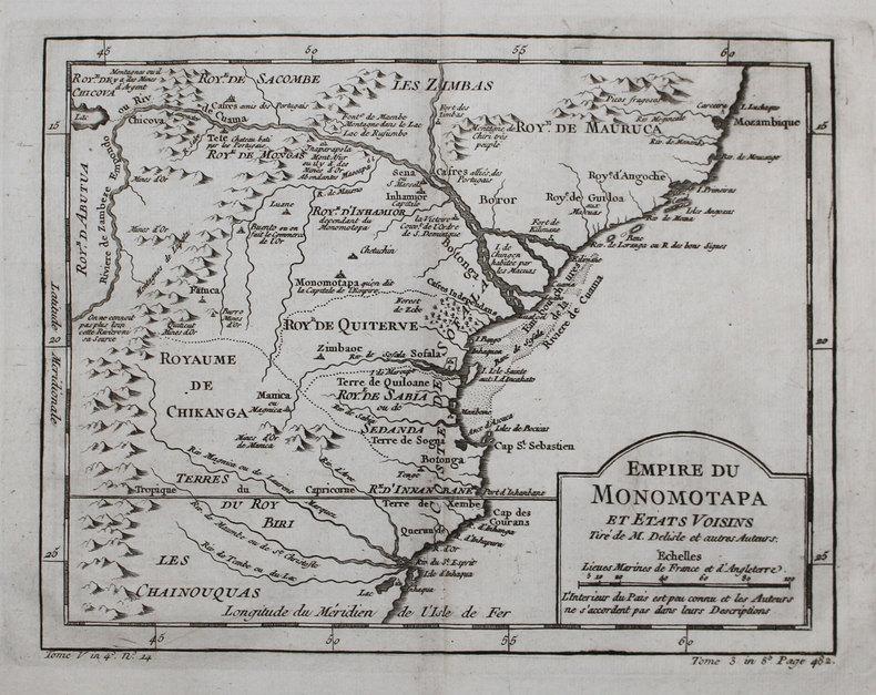 [ZIMBABWE/MOZAMBIQUE] Empire du Monomotapa et états voisins.. BELLIN (Jacques-Nicolas).