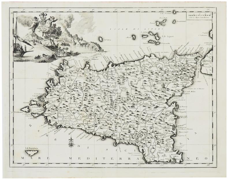 [SICILE] Carta geografica dell'isola di Sicilia.. SALMON (Thomas).