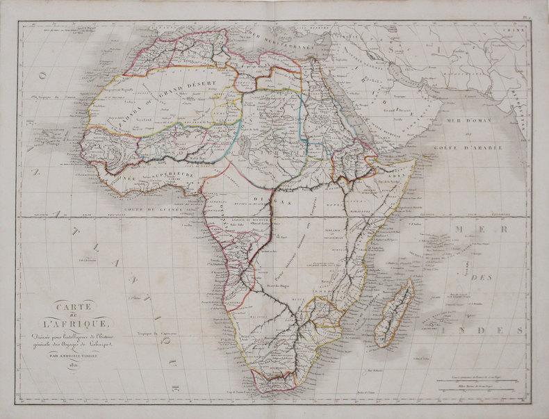 Carte de l'Afrique.. TARDIEU (Ambroise).