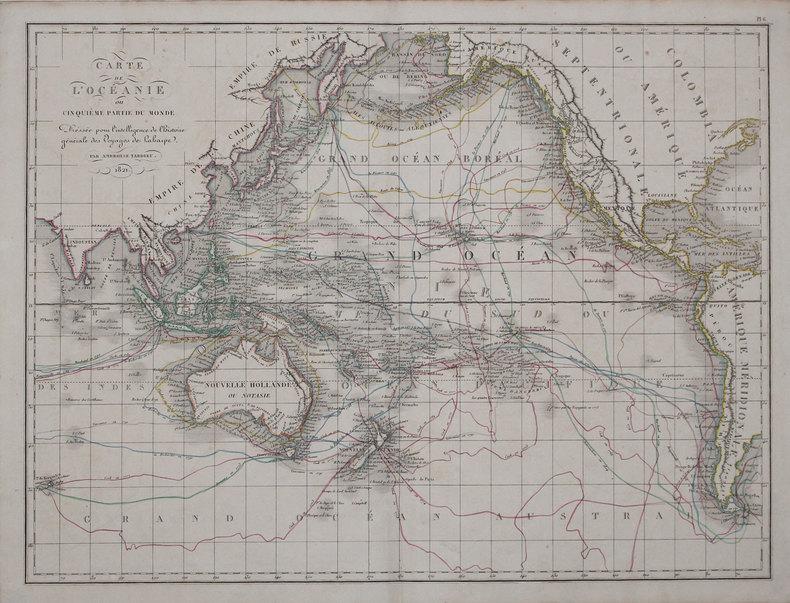 Carte de l'Océanie ou cinquième partie du monde.. TARDIEU (Ambroise).