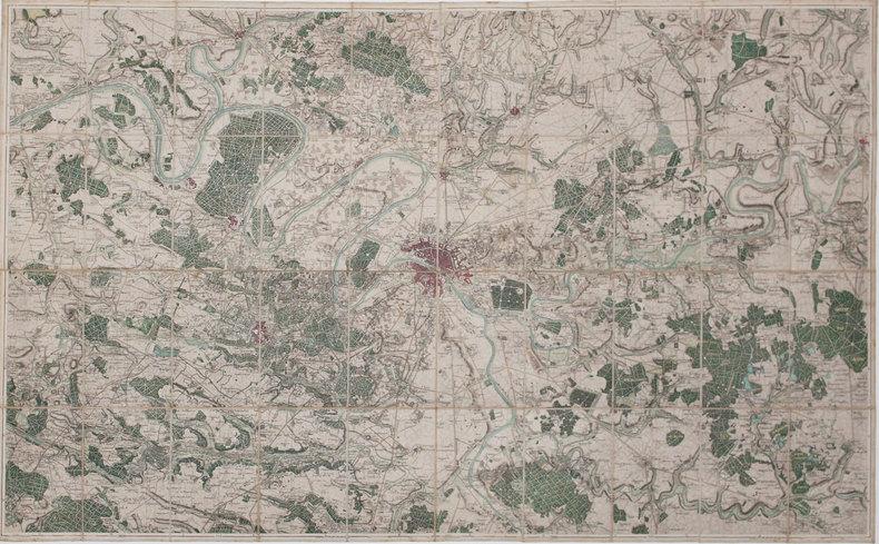 [Carte des environs de Paris].. [ANONYME].