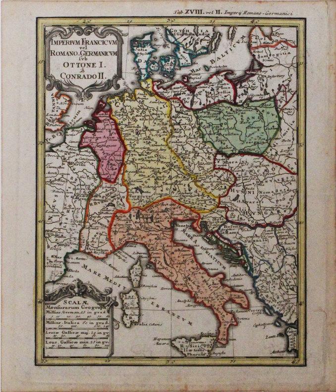 Imperium Francicum vel Romano-Germanicum sub Ottone I & Conrado II.. HAAS (Johann Matthias).