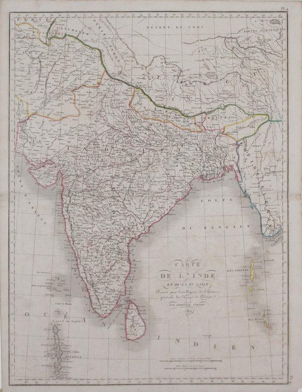 Carte de l'Inde en de-çà du Gange.. TARDIEU (Ambroise).