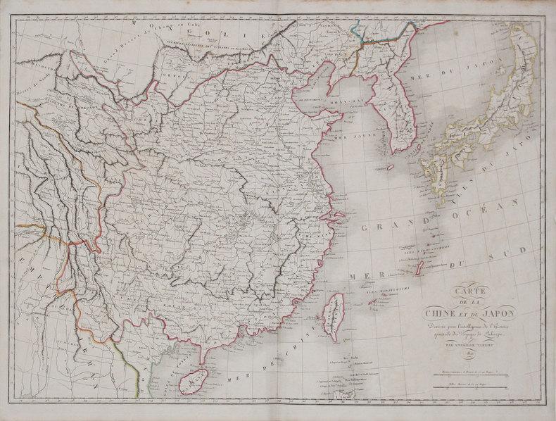 Carte de la Chine et du Japon.. TARDIEU (Ambroise).