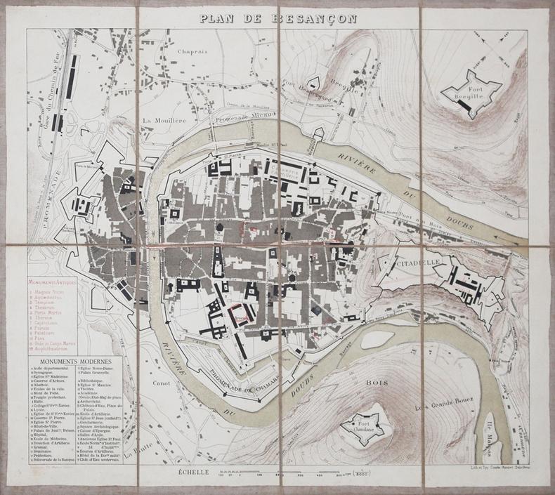 [BESANCON] Plan de Besançon.. [ANONYME].