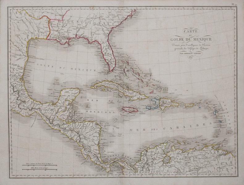 Carte du Golfe du Mexique.. TARDIEU (Ambroise).