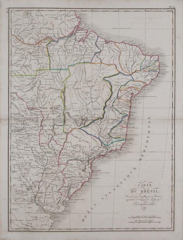 [BRÉSIL] Carte du Brésil.. TARDIEU (Ambroise).