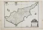 [CHYPRE] Cyprus insula.. SANSON d'ABBEVILLE (Nicolas).