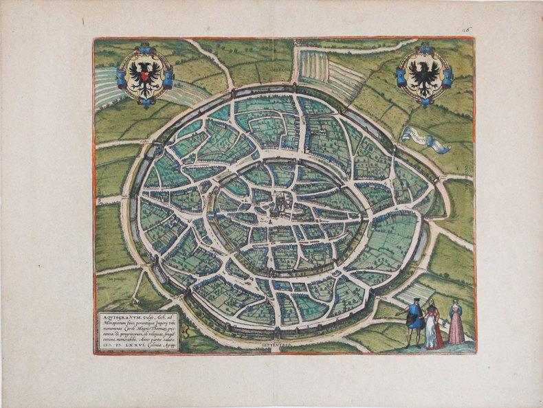 [AIX-LA-CHAPELLE] Aquisgranum.. BRAUN (Georg) & HOGENBERG (Frans).