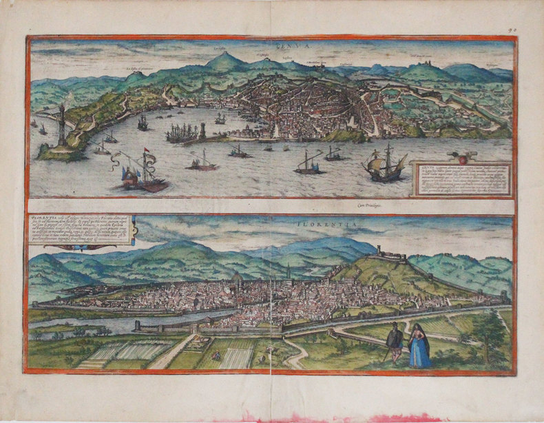 [GÊNES & FLORENCE] Genua - Florentia.. BRAUN (Georg) & HOGENBERG (Frans).