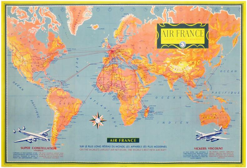 AIR FRANCE. Réseau Aérien Mondial.. AIR FRANCE.