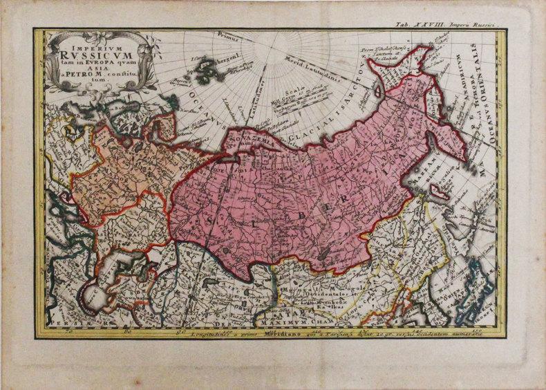 Imperium Russicum tam in Europa quam Asia a Petro M constitutum.. HAAS (Johann Matthias).