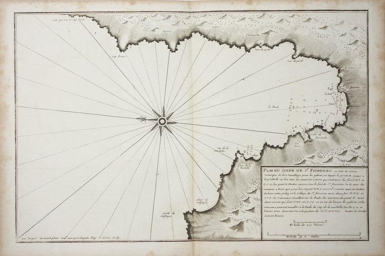 [SAINT-FLORENT] Plan du golfe de St. Fiorenzo en lisle de Corse.. AYROUARD (Jacques).
