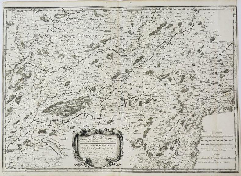 [FRANCHE-COMTÉ/BESANÇON] Sequani. Partie du diœc. et arch.ché de Besançon où sont les gr. archidiac.né, et celuy de Gray &c. Partie de la Franche ...