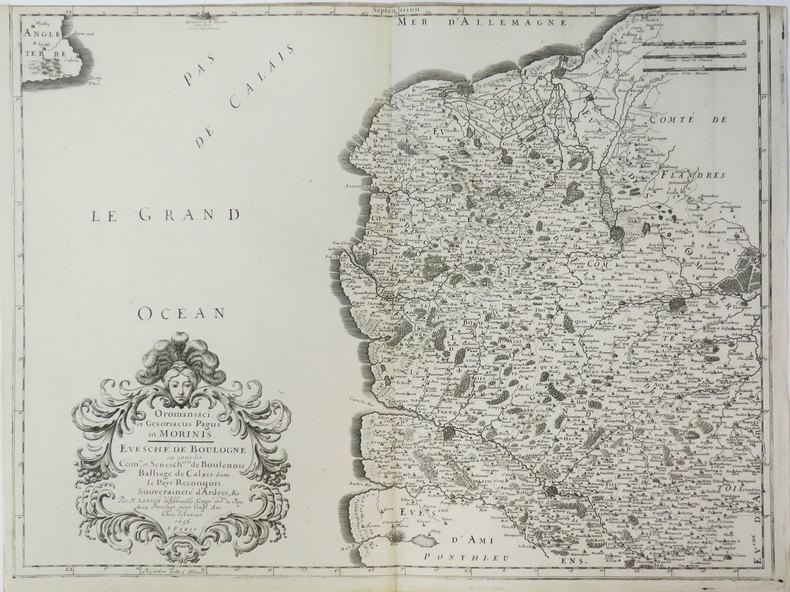 [BOULOGNE/MER] Oromansaci, et Gesoriacus Pagus in Morinis. Evesché de Boulogne où sont les comté et sénesch.ssée de Boulenois. Balliage de Calais dans ...