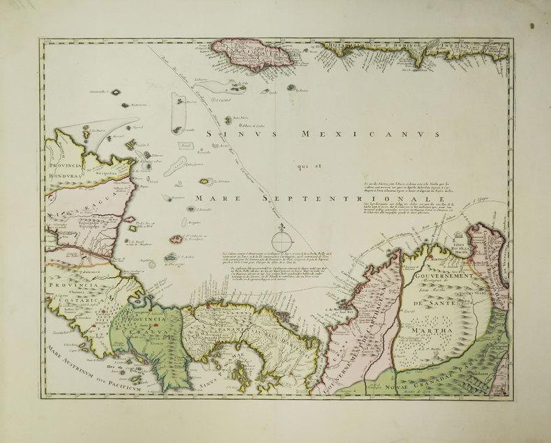 [AMERIQUE CENTRALE] [Nova Isthmi Americani, qui et Panamiensis item Dariensis, Tabula in qua Urbes Porto Bello, Panama et Carthagena].. OTTENS ...