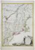 Carte du théâtre de la guerre actuel entre les Anglais et les Treize Colonies Unies de l'Amérique septentrionale dressée par J.B. Eliot Ingénieurs des ...