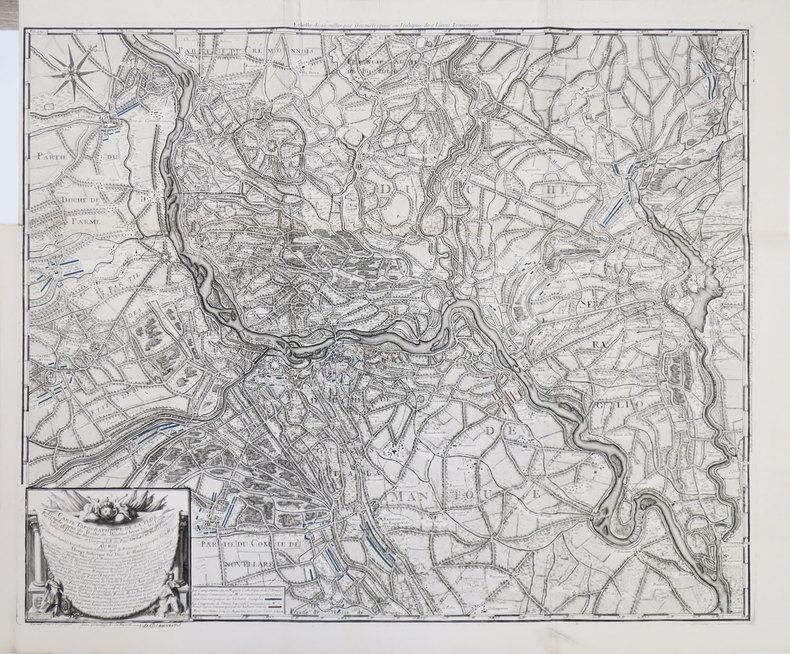 [MANTOUE] Carte topographique de la plus grande partie du Duché de Mantouë levée sur les lieux.. BEAURAIN (Jean de).