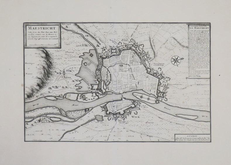 [MAASTRICHT] Maestricht ville forte des Païs-Bas.. BEAURAIN (Jean de).