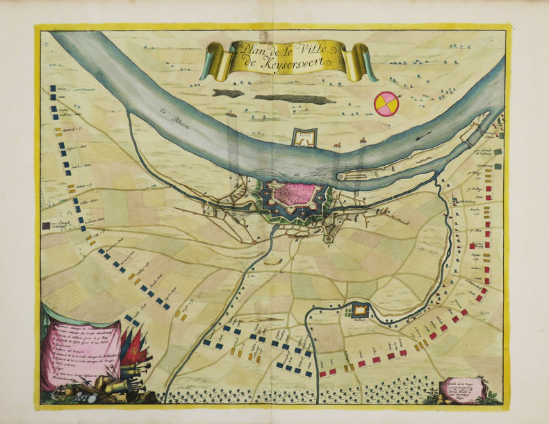 [KAISERSWERTH] Plan de la ville de Keyserswert.. BEECK (Anna).