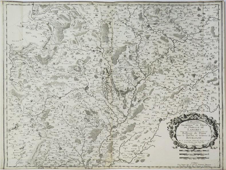 [DIJON] Lingones. Archidiac.né de Dijon, du diœcèse de Langres. Balliage de Dijon dans le duché et gouvern. de Bourgogne.. SANSON d'ABBEVILLE ...