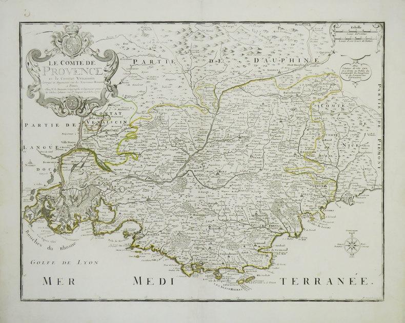 [PROVENCE] Le Comté de Provence et le Comtat Venaissin.. DESNOS (Louis-Charles).