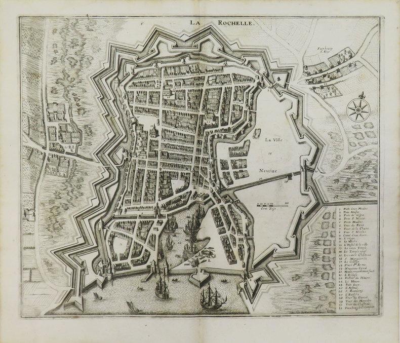 [LA ROCHELLE] La Rochelle.. MERIAN (Matthäus).