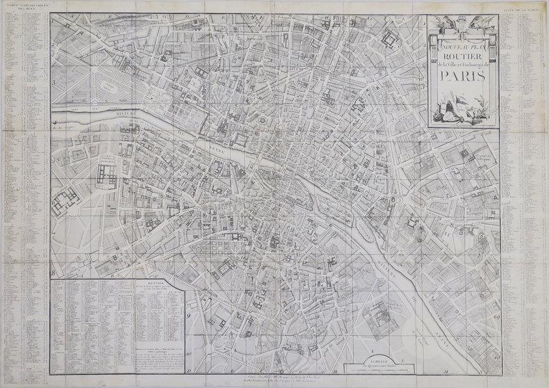 Nouveau Plan routier de la ville et faubourgs de Paris en 1780.. ALIBERT (Jean).