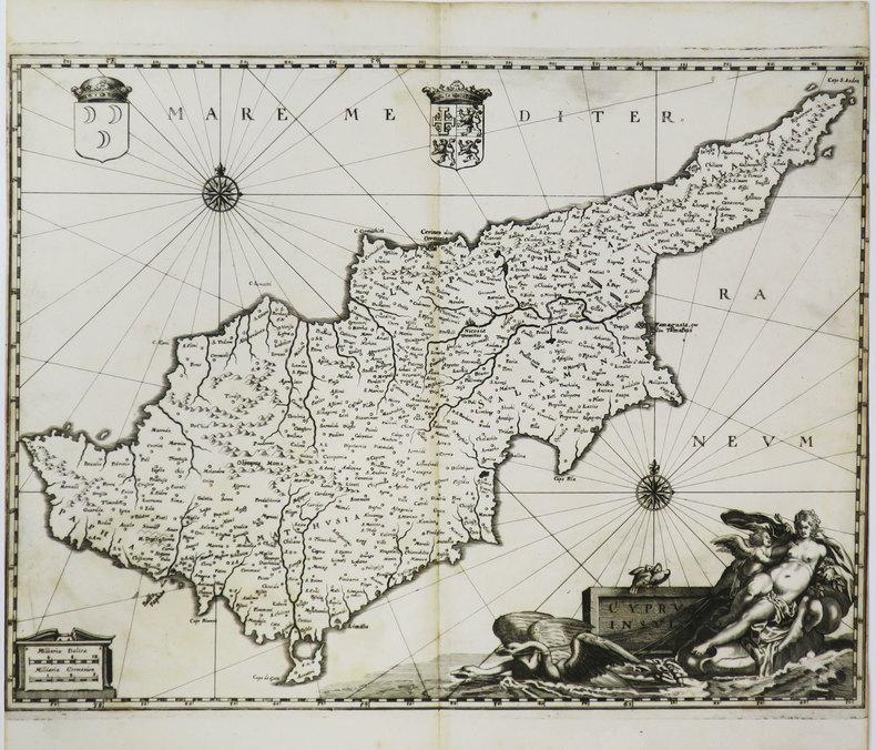 [CHYPRE] Cyprus insula.. MERIAN (Matthäus).