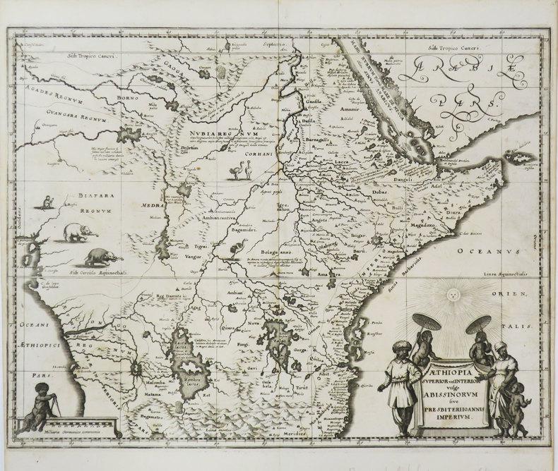 Æthiopia superior vel interior vulgo Abissinorum sive Presbiteri Joannis imperium.. MERIAN (Matthäus).