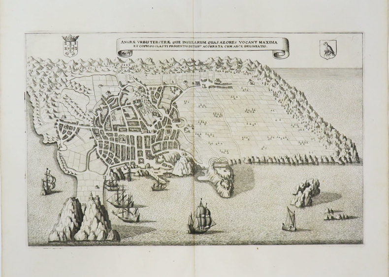 [AÇORES] Angræ urbis Terceræ que insularum  quas Azores vocant maxima.. MERIAN (Matthäus).