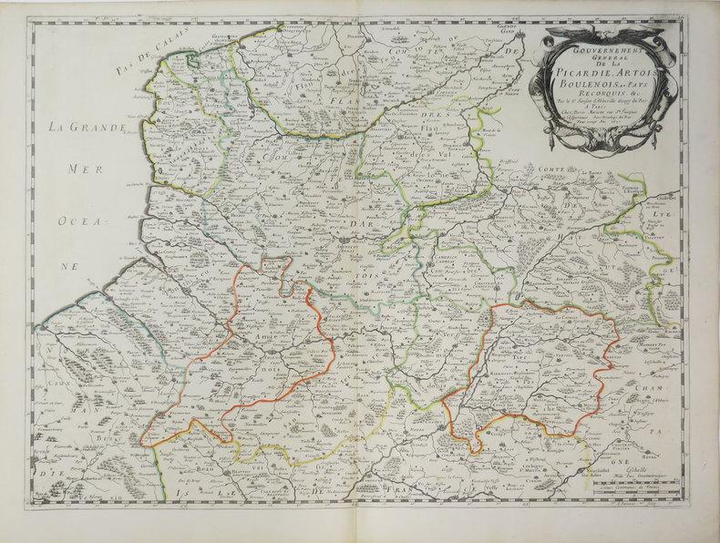 [PICARDIE] Gouvernement général de la Picardie, Artois, Boulenois, et pays reconquis.. SANSON d'ABBEVILLE (Nicolas).