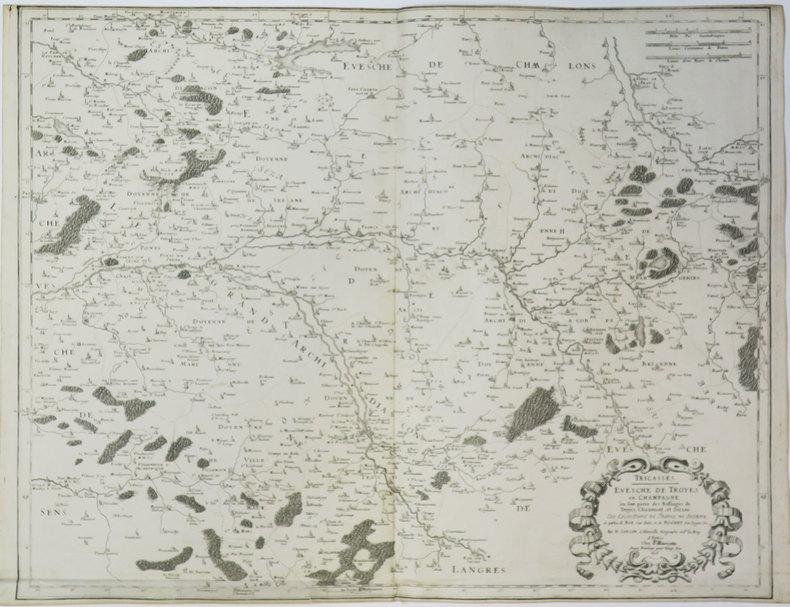 [TROYES] Tricasses. Evesché de Troyes en Champagne où sont partie des balliages de Troyes, Chaumont, et Sézane.. SANSON d'ABBEVILLE (Nicolas).
