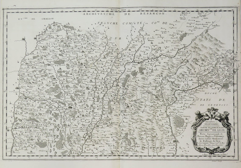 [BRESSE/BUGEY/VALROMEY] Insubres in Segusiani. Partie du diœcèse et archev.ché de Lyon. Partie septentrionale de Bresse, Bugey, et Valromey, divisée ...