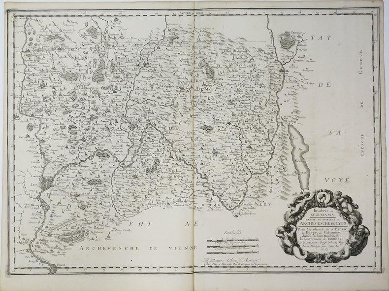 [BRESSE/BUGEY/VALROMEY] Insubres in Segusianis. Partie du diœcèse et archevesché de Lyon. Partie méridionale de la Bresse, du Bugey, et Valromey, ...