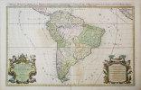 Amérique méridionale divisée en ses principales parties où sont distingués les uns des autres les estats suivant qu'ils appartiennent présentement aux ...