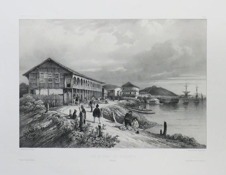 [EQUATEUR] Vue du port de Guayaquil. Colombie.. VAILLANT (Auguste-Nicolas).