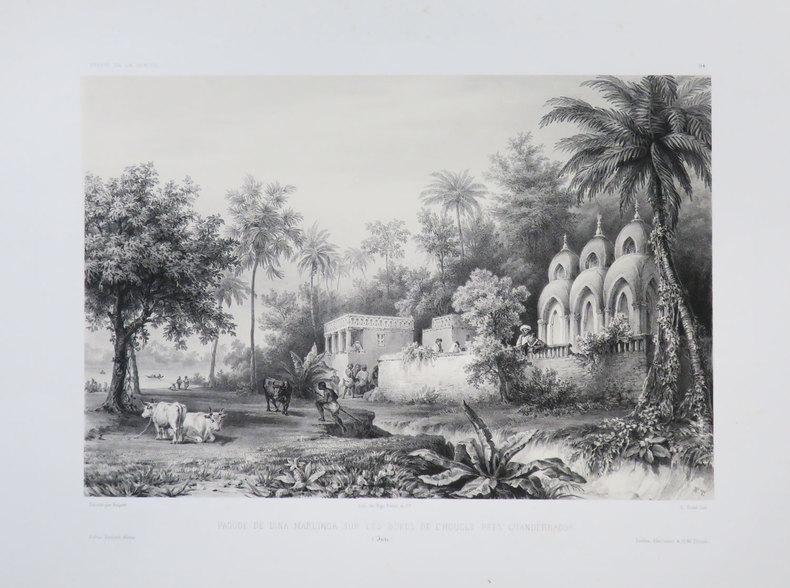 [BENGALE] Pagode de Dina Marlinga sur les bords de l'Hougly près Chandernagor. (Inde).. VAILLANT (Auguste-Nicolas).