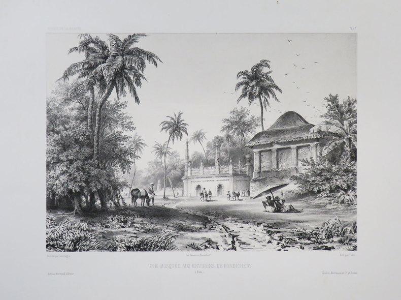 [PONDICHERY] Une mosquée aux environs de Pondichéry. (Inde).. VAILLANT (Auguste-Nicolas).