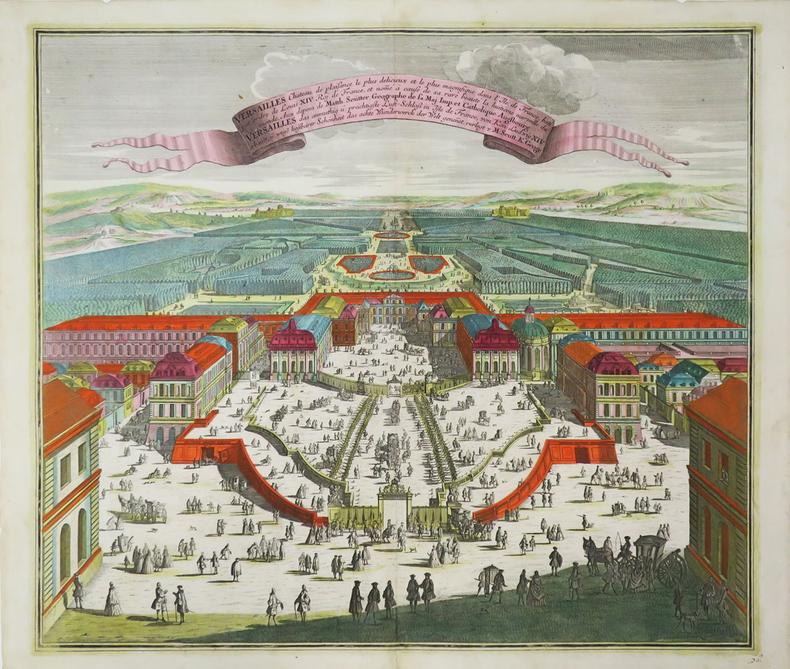 [VERSAILLES] Versailles château de plaisance le plus délicieux et le plus magnifique dans l'Île de France, bâti par ordre de Louis XIV Roy de France, ...