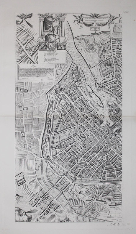 Carte ou description nouvelle de la ville, cité, universitée, et fauxbours de Paris. 1609.. ATLAS des ANCIENS PLANS de PARIS & QUESNEL (François).